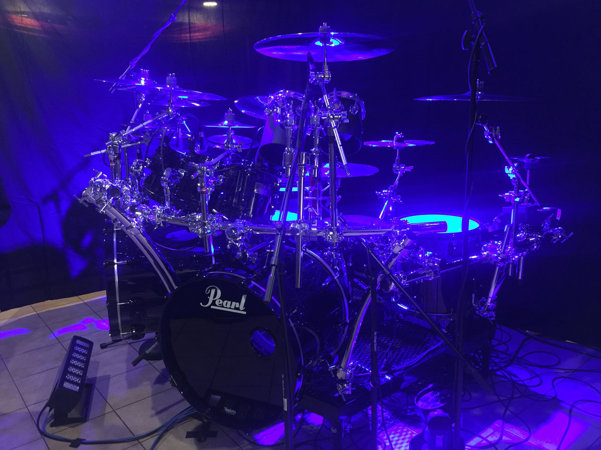 Pearl Masters Custom drums.